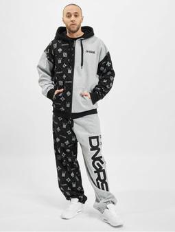 Dangerous DNGRS Half Crown & Kings Sweatsuit Black Grey Melange
