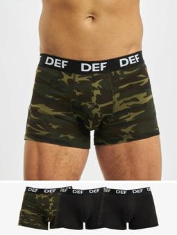 DEF 4er Pack Boxershorts Green Camouflage/ Black