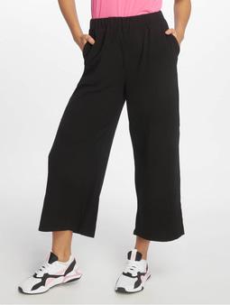 Dr. Denim Abel Trousers Culotte Black Velvet Logo