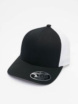 Flexfit 110 Mesh 2-Tone Flexfitted Cap Melange Charcoal/Black