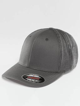 Flexfit Mesh Cotton Twill Trucker Cap Dark Grey