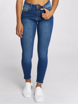 Just Rhyse Buttercup High Waist Skinny Jeans Mid Blue