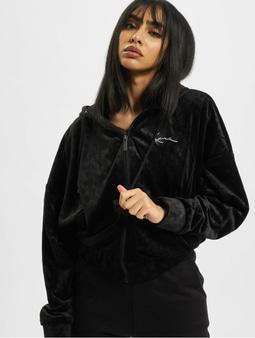 Karl Kani Kk Chest Signature Velvet Transition Jacket Black