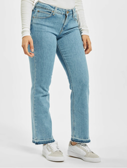 Lee Cropped Boot Jeans Bleached Stone