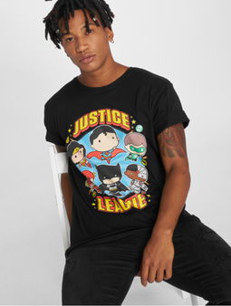 Merchcode Justice League Comic Fit Tall T-Shirt Black