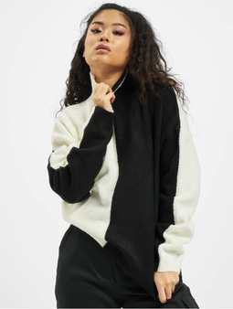 Missguided Colourblock High Neck Sweatshirt Black
