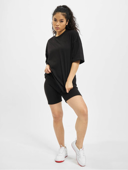 Missguided Coord Tshirt & Cycling Short Set Black