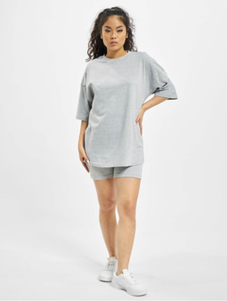 Missguided Coord Tshirt & Cycling Short Set Grey