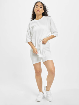 Missguided Coord Tshirt & Cycling Short Set White