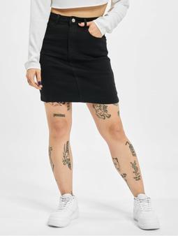 Missguided Denim Super Stretch Mini Skirt Black