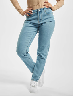 Missguided High Waisted Comfort Stretch Mom Jeans Light Blue