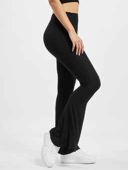 Missguided Jersey Flare Sweat Pants Black