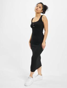 Missguided Knitted Rib Dress Black