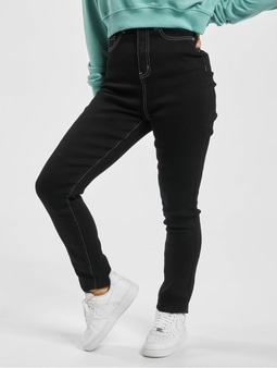 Missguided Mg X Assets Contrast Stitch Sinner Skinny Jeans Black