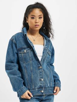 Missguided Oversized Denim Jacket Deep Blue