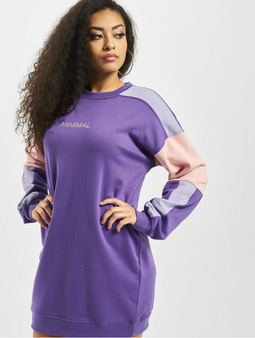 Missguided Oversized Minimal Sweater Dress Purple