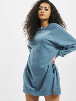 Missguided Oversized Pocket Sweater Dress Blue