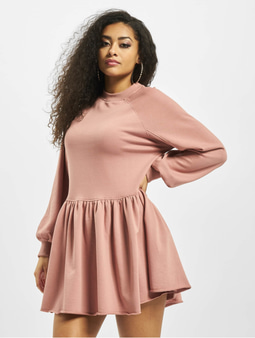 Missguided Oversized Smock Sweater Dress Rose
