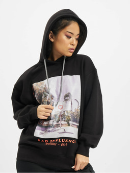 Missguided Petite Bad Influence Hoody Black