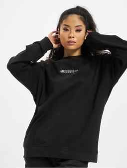 Missguided Petite Branded Sweatshirt Black