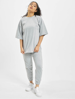 Missguided Petite Co-Ord Tshirt Jogger Set Grey