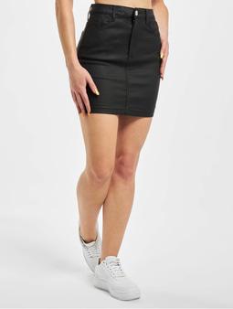 Missguided Petite Coated Superstretch Mini Skirt Black