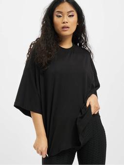 Missguided Petite Drop Shoulder T-Shirt Black