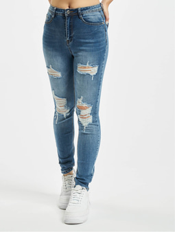Missguided Petite Sinner Authentic Skinny Jeans Blue