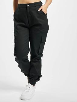 Missguided Plain Cargo Pants Black