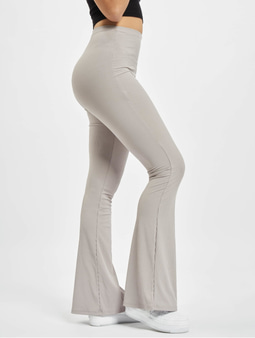 Missguided Ribbed Flare Trouser Sweat Pants Grey