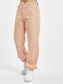 Missguided Riot Highwaisted Jogger Mom Jeans Pink
