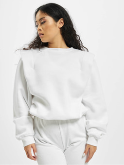Missguided Shoulder Detail Toggle Sweatshirt White