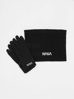 Mister Tee NASA Fleece Set Gloves Black