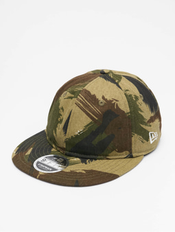 New Era Camo Ripstop Retro Crown 9Fifty Snapback Cap Woodland Camo