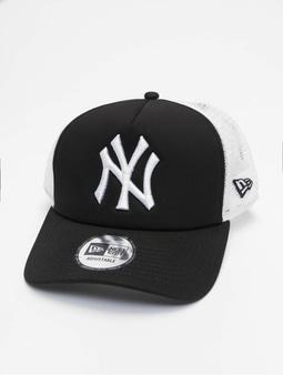 New Era Clean NY Yankees Trucker Cap Black (Adjustable black