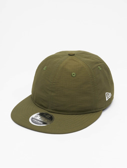 New Era Green Ripstop Retro Crown 9Fifty Snapback Cap New Olive