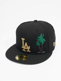 New Era Mlb Properties Los Angeles Dodgers 59fifty Snapback Cap Black Metalic Golden