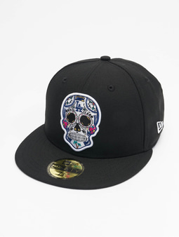 New Era Mlb Properties Los Angeles Dodgers 59fifty Snapback Cap Sugar Skull Black