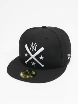 New Era Mlb Properties New York Yankees 59fifty Snapback Cap Cross Bat