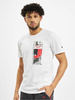 New Era NBA Chicgo Bulls Photo Print T-Shirt White