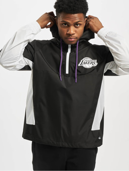 New Era NBA LA Lakers Print Infill Windbreaker Black