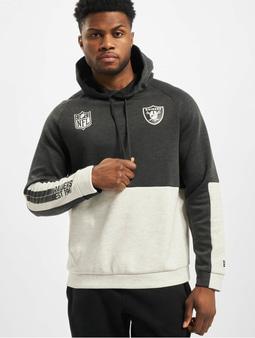 New Era NFL Oakland Raiders Colour Block Hoody Grey Med