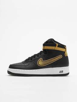 Nike Air Force 1 High '07 LV8 Sport Sneakers Black/Metallic Golden/White