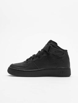 Nike Air Force 1 Mid Kids Basketball Shoes Black/Black (39 b