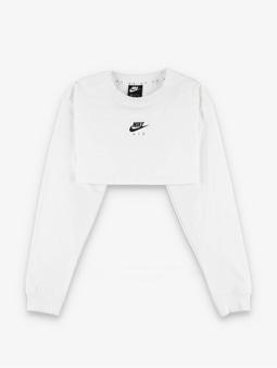 Nike Air Longsleeve Crop Top Black