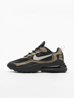 Nike Air Max 270 React Sneakers Black/Light Bone/Khaki/Metallic Golden