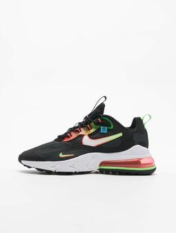 Nike Air Max 270 React World Wide Sneakers Black/White/Green Strike/Flash Crimson