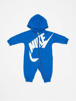 """Nike Baby French Terry """"all Day Play"""" Coverall Dark Grey Heather/Racer Pink"""