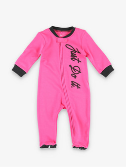 Nike Nkg Jdi Footed Coverall W Hdbd Other Dark Hyper Pink