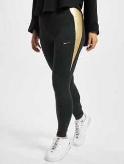 Nike One Colorblock Tights Black/Black/Metallic Golden